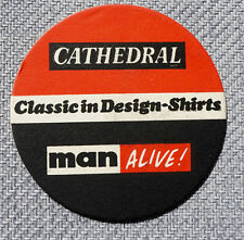 Very Old Beermat/ Coaster Cathedral Classic in Design Shirts ('60's)