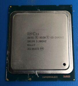 Intel Xeon E5-2643 V2 SR19X 6 Core 3.50GHz 25MB 8 GT/S Processor