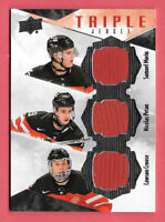 2015-16 Morin - Petan - Crouse Upper Deck Team Canada Juniors Triple Jersey