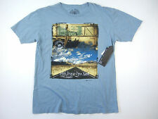 SOCIAL REPUBLIC LIGHT BLUE XL OPEN ROAD DESERT CITIES CALIFORNIA TSHIRT MENS NWT