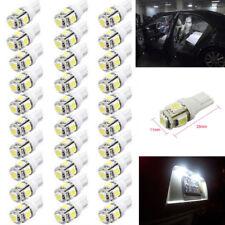 50Pcs Super White T10 Wedge 5050 5-SMD LED Interior License Plate Light bulbs