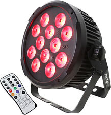 Ibiza Light DMX LED Par Can 12 x 12W RGBWA + UV Hex Uplighter DJ Disco + Remote