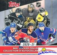 2020/21 Topps Hockey MASSIVE 50 Pack Factory Sealed Sticker Box-250 Stickers