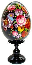 Oeuf decore peint oeuf en bois Papillon, oeuf de collection en bois Papillon