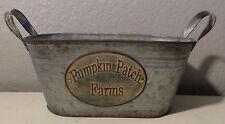 1 METAL GALVANIZED BUCKET PUMPKIN PATCH FARMS FALL FARMHOUSE STORAGE H0ME DECOR