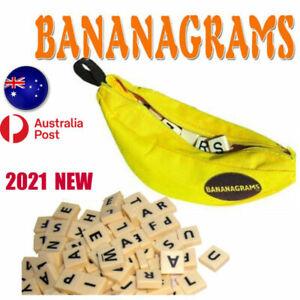 Bananagrams Crossword Family Fun Game Word Play English spelling Yellow