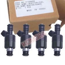 4PCS 17109450 Fuel injector For DAEWOO Nexia Lanos Espero Nubira 1.5 1.6 16V