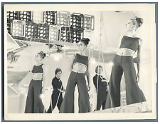 F. Pourcel, E. Mitchell, Nicoletta, F. Alamo Monty  Vintage silver print Tirag