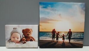 Canvas Print Photo Framed Personalised Family Photo Canvas Various Sizes