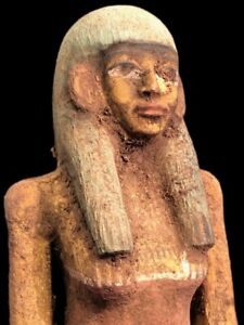 BEAUTIFUL ANCIENT EGYPTIAN WOODEN STATUE 300 BC (4) LARGE !!!