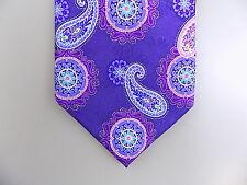 """GEOFFREY BEENE $55 MEN Purple Paisley Skinny WIDTH 3"""" NECK TIE 100% Silk E15"""