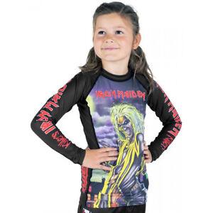 Tatami Kid's x Iron Maiden Killers Long Sleeve BJJ Rashguard - Black