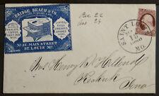 TIN COPPER IRON WIRE TOOLS MACHINES 1860 MISSOURI to IOWA Illustrated AD Cover