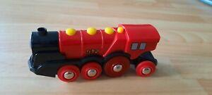 BRIO Lok Lokomotive Rote Lola 33592 Batterie mit Licht Sound