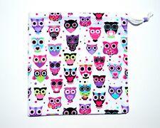 New Gymnastics Grip Bag Flannel Print Owls Drawstring Bag