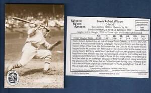 #56 HACK WILSON, Giants The Sporting News/WWS/BSI Conlon Smithsonian (1/12,000)