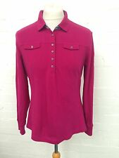 Mens Tommy Hilfiger Long Sleeved Polo Shirt - Xl - Dark Pink - Great Condition