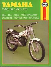 HAYNES 1974-1984 YAMAHA TY50, 80, 125, & 175 OWNERS SERVICE MANUAL NEW (464)