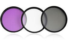 49mm  3x FILTERSET CPL+FLD+UV  mit Filteretui   49mm