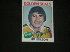 JIM NEILSON 1975-76 TOPPS SIGNED AUTO CARD #270 SEALS
