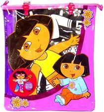 Dora The Explorer Jumbo Velvet Paper Dolls you Color in Zippered Vinyl Bag