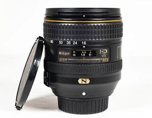 NIKON AF-S 16-80mm 1:2.8-4E ED VR DX LENS