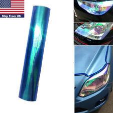 "Neo Glossy Vinyl Taillight Fog Headlight Lamps Tint Film Badge Decor 12""X 48"""
