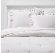 Simply Shabby Chic Full/Queen Ruffle Edge Comforter & Sham Set - Pink