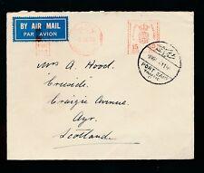 EGYPT 1938 METER FRANKING SHIPPING ENVELOPE AIRMAIL HENDERSON LINE EMBOSSED