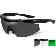 Wiley X Talon APEL Sunglasses - Grey/Clear Lens - Matte Black Frame