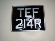Motorcycle 9x7 Classic Metal Pressed Regestration Number Plate FREE POSTAGE