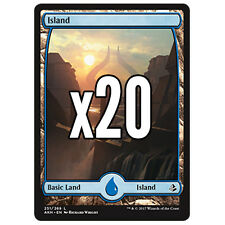 20 Amonkhet FULL ART Island # 251 - MTG Basic Land Lot Magic the Gathering