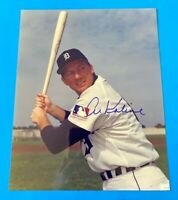 VINTAGE RARE autographed 8x10 color photo - AL KALINE Detroit tigers AUTHENTIC