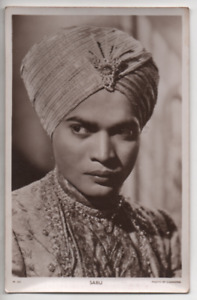 Vintage photo card Picturegoer Series postcard size W 343 Sabu