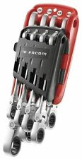 FACOM FLEXIBLE HEAD RATCHETING IMPERIAL AF WRENCH SPANNER WRENCH SET IN CLIP