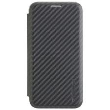 COMMANDER TASCHE SmartCase NOBLESSE Carbon Style für Apple iPhone X / XS - schwa