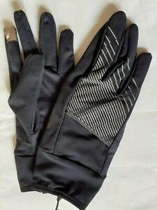 Ladies Womens Running Gloves - Touchscreen Light Warm Glove - Black - New