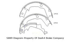 Parking Brake Shoe-Disc Rear Dash 4 Brake B889