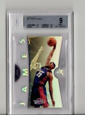 2006 Fleer E-X LeBron James #6 BGS 9 MINT Refractor Acetate Lakers