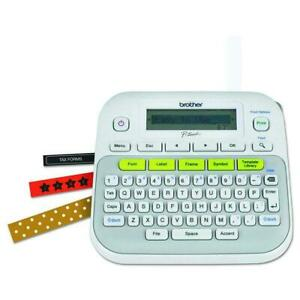 Brother P-touch PT-D210 Compact Label Maker - White