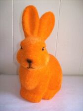 "9"" Flocked Bunny Figure (Orange) - SO CUTE!"