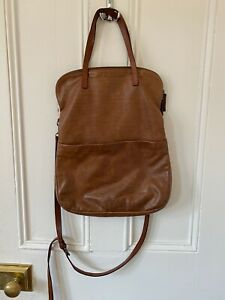 Ally Capellino Large Cross Body Bag Tan Leather