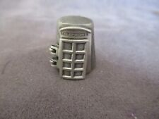 Vintage NICHOLAS GISH Telephone Booth Pewter Thimble Door Opens ub