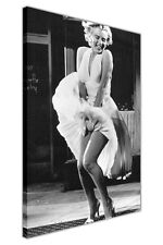 CANVAS WALL ART PICTURES MARILYN MONROE OVER SUBWAY PHOTO HOLLYWOOD PRINTS DECOR