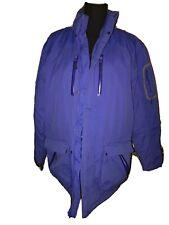 Lands End Mens Blue Coat Primaloft Size Med 38-40 Removable Hood Parka