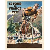 "1948 Le Tour De France Bicycle Poster Fine Art Vintage Bicycle Poster 11"" x 17"""