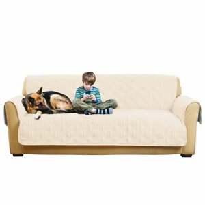 Non-Slip/Waterproof Sofa Furniture Cover - CREAM