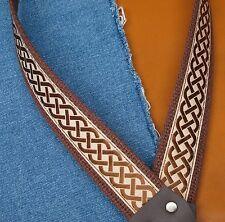 CELTIC KNOT Cotton USA made A & F style TROPHY Mandolin Strap