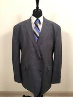 Joseph Abboud Blue Gray Nail Head Sport Coat Blazer 3X Jacket Men's 54R sz. 54 R