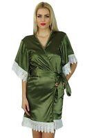 Bimba femmes Kimono ? manches courtes en satin Robe Pr?paration-cNT